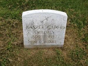 Kasper Gaber Gravestone
