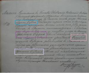 Death record written in Russian