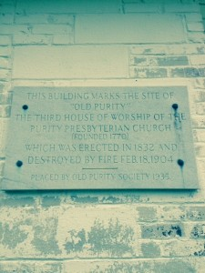 Plaque marking a worship building in Chester, SC