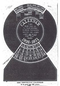 Clerk Invents Calendar