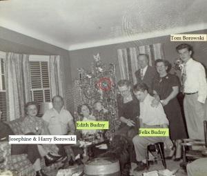 Borowski_Budny Christmas circa 1952