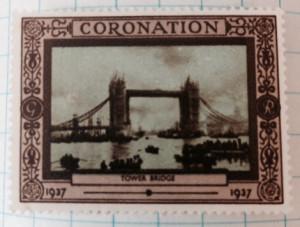 George VI Coronation Stamp of Tower Bridge 1937