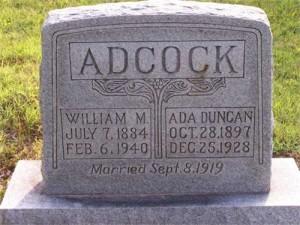 William_Ada_Adcock Headstone