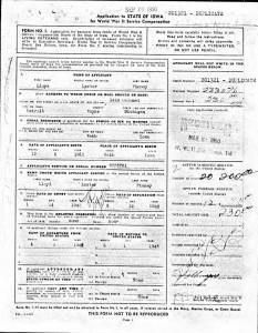WWII Bonus Case File Application