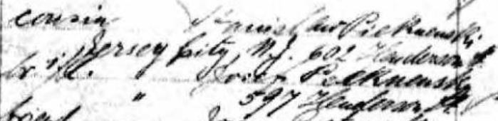 Illegible handwriting on a manifest record.